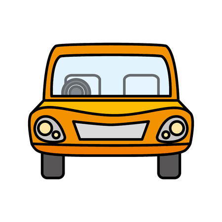 car vehicle front view icon vector illustration design