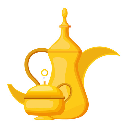 indian tea pot traditional vector illustration design Stockfoto - 122808592