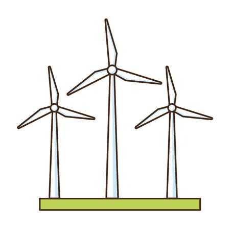 turbine eoliche energia rinnovabile illustrazione vettoriale design