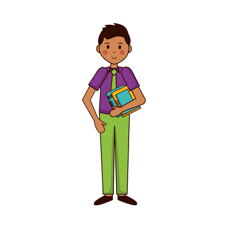 man with book teachers day vector illustration Foto de archivo - 122808637