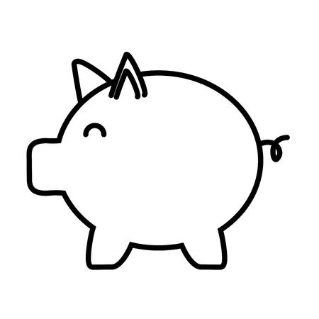 piggy bank saving on white background vector illustration