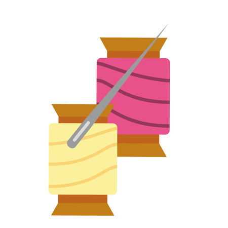 materials for sewing isolated icon vector illustration design Illustration