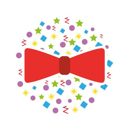 cute bow party icon vector illustration design Stock Illustratie