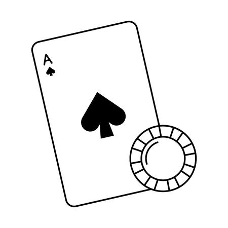 poker cards isolated icon vector illustration design Stock Illustratie