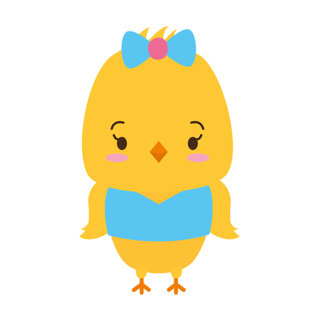 cute chicken animal cartoon vector illustration design