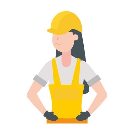 Ilustración de vector de mujer trabajadora feliz día del trabajo