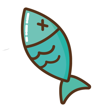 dead fish isolated icon vector illustration design