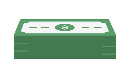 banknotes stacked money cash icon vector illustration  イラスト・ベクター素材
