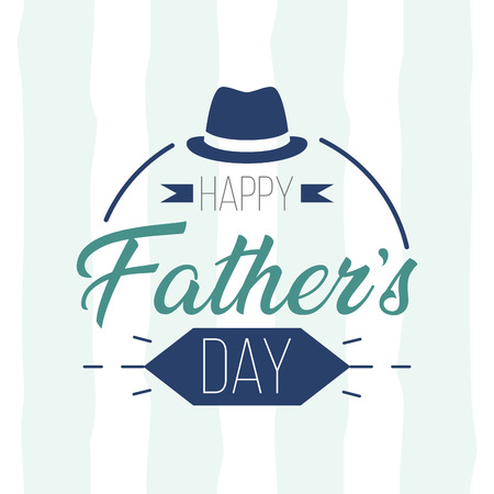 happy fathers day greeting card vector illustration Ilustrace