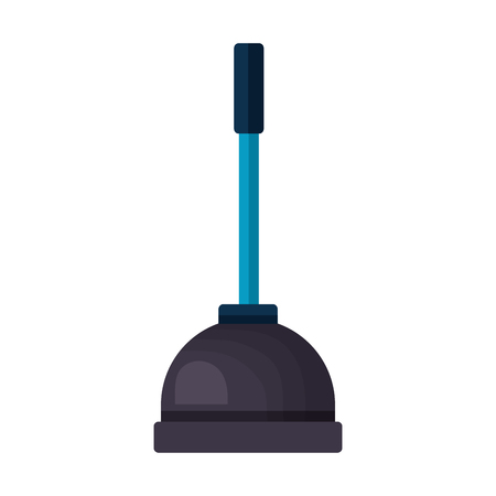 plunger tool cleaning on white background vector illustration Ilustracja