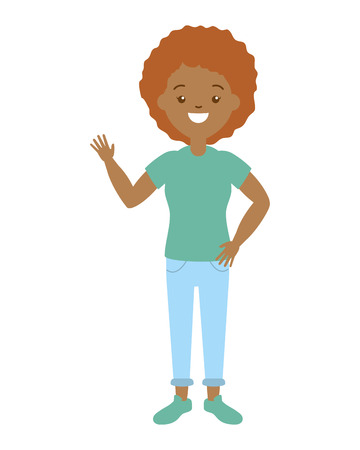 afro american woman character vector illustration design