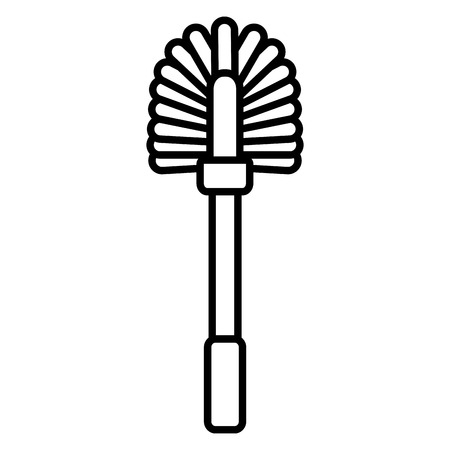 toilet brush tool cleaning on white background vector illustration 写真素材 - 122760147