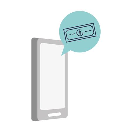 mobile banknote app online banking vector illustration Foto de archivo - 122760163