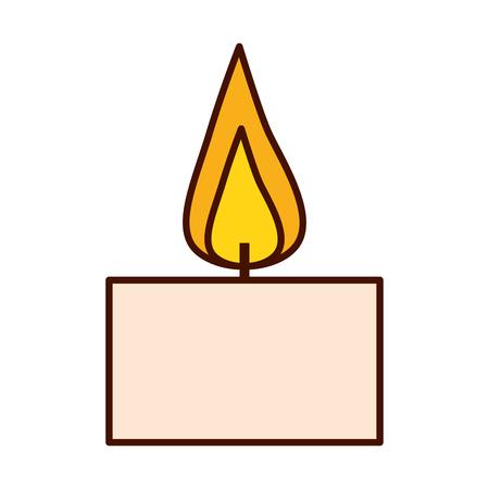 burning candle aroma on white background vector illustration design