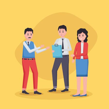 team people employee office vector illustration design Ilustrace
