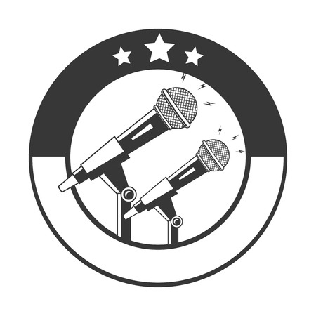 microphone sound retro icon on white background vector illustration 矢量图像