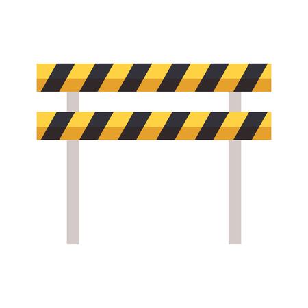 traffic barrier caution on white background vector illustration 向量圖像