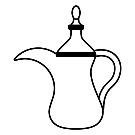 indian tea pot traditional vector illustration design