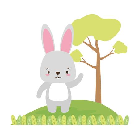 cute rabbit animal cartoon vector illustration design image Vektorgrafik