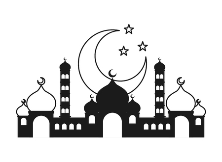 taj mahal half moon islamic vector illustration design vector illustration Banque d'images - 121864435