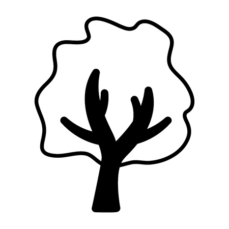 tree botanical forest on white background vector illustration