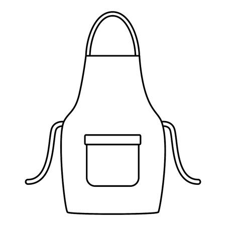 Delantal de limpieza de herramientas sobre fondo blanco ilustración vectorial Ilustración de vector