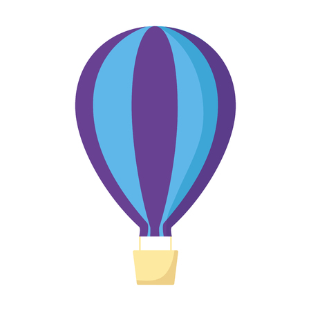 hot air balloon on white background vector illustration Ilustrace