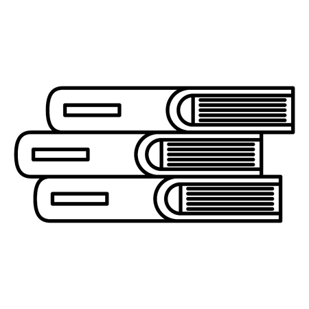 pile text books icons vector illustration design Stock Illustratie