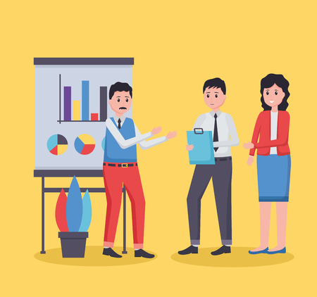 people board strategy office workplace vector illustration Ilustrace