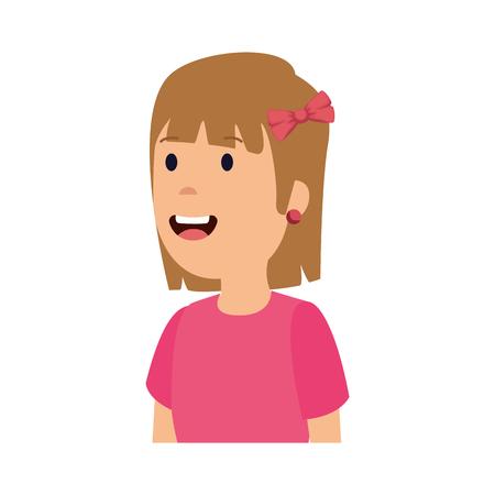 little girl kid character vector illustration design Ilustração
