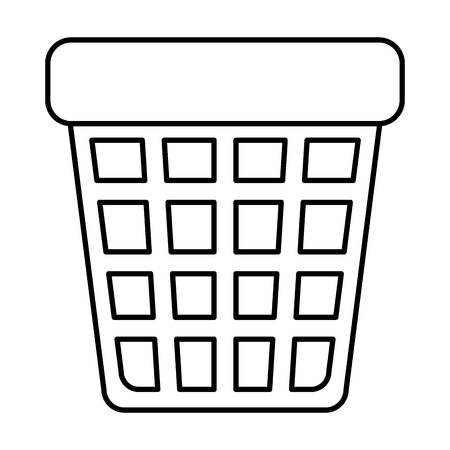 waste bin pot icon vector illustration design Banque d'images - 122760848