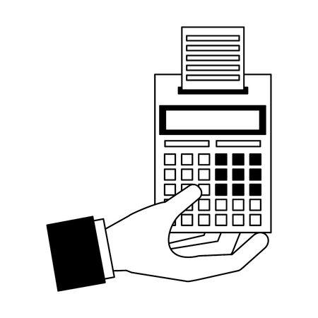 hand calculator accounting tax payment vector illustration 向量圖像