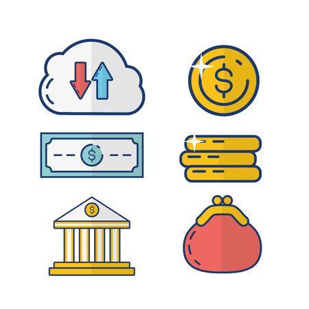 online payment bank commerce vector illustration design