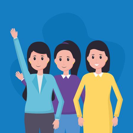 women colleagues team office vector illustration design Banco de Imagens - 122707228