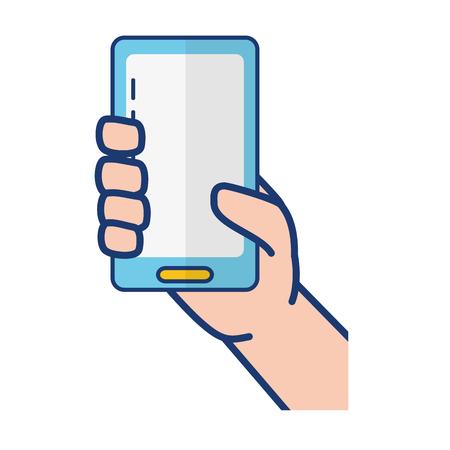 hand with mobile device vector illustration design Illustration
