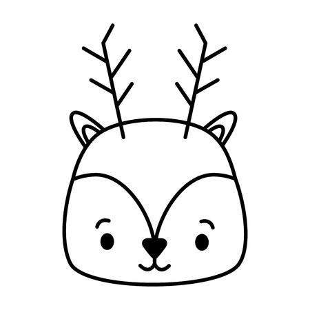 cute deer animal cartoon vector illustration design image Stock Vector - 122707288