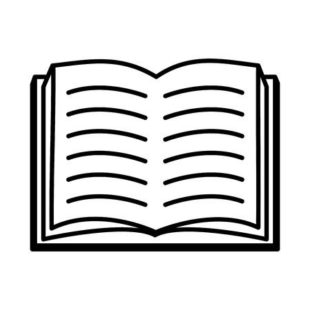 open textbook literature world book day vector illustration Ilustrace