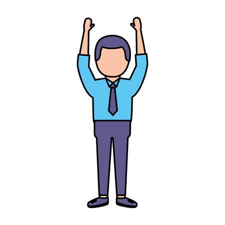 businessman with necktie on white background vector illustration vector illustration Stockfoto - 122709397