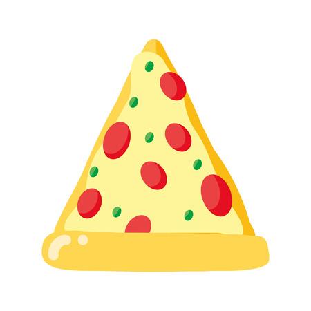 pizza fast food fond blanc vector illustration Vecteurs