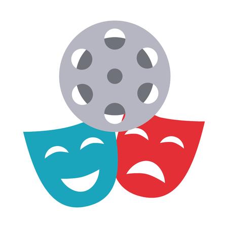 theater mask isolated icon vector illustration design Illusztráció