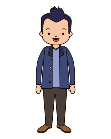 man character cartoon on white background vector illustration design 向量圖像