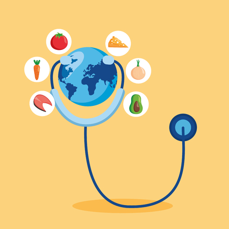 earth with stethoscope world health day