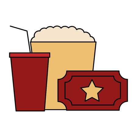popcorn and soda isolated icon vector illustration design
