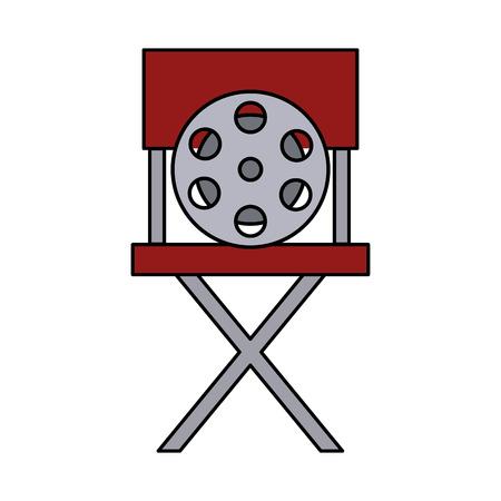 Silla de director de cine, diseño de ilustraciones vectoriales icono aislado Ilustración de vector