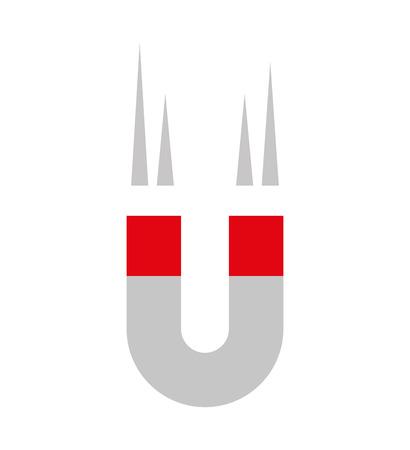 dispositivo magnetico isolato icona illustrazione vettoriale design Vettoriali