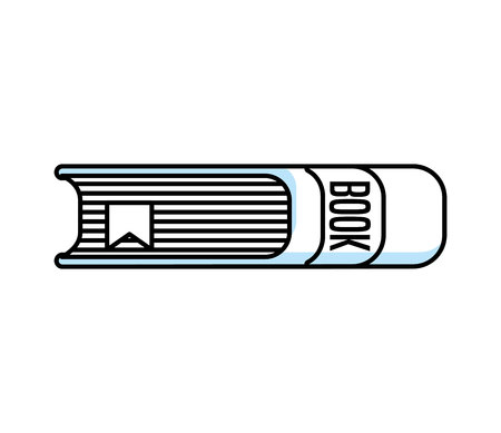 text book library isolated icon vector illustration design Çizim