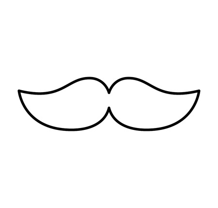 mustache silhouette isolated icon vector illustration design