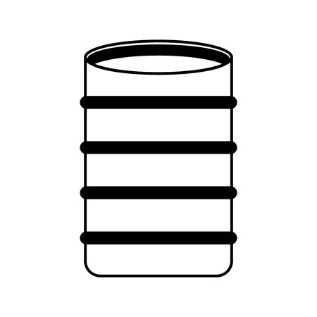 construction barrel isolated icon vector illustration design