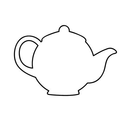 teiera bevanda icona isolata illustrazione vettoriale design Vettoriali