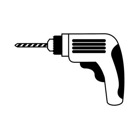 drill electric tool icon vector illustration design